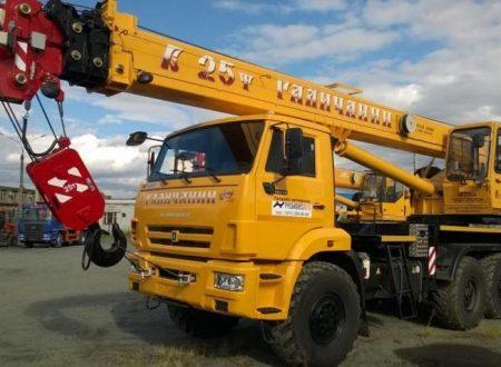 Аренда автокрана Галичанин - 25 тонн