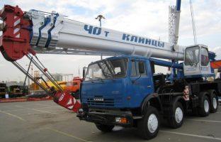Аренда автокрана Ульяновец - 40 тонн