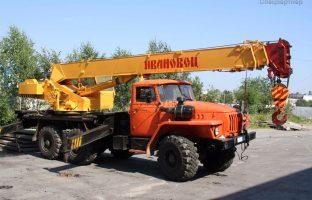 Аренда автокрана-вездехода Ивановец - 14 тонн