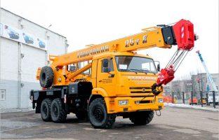 Аренда автокрана-везедехода Галичанин - 25 тонн