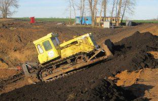 перемещение грунта бульдозером