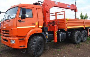 Аренда машины с манипулятором на базе КАМАЗ -65117 (вездеход) по цене от 850 руб./час