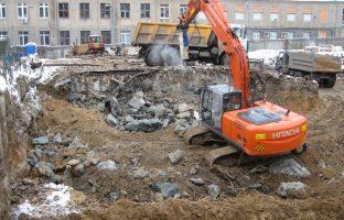 Демонтаж фундамента по цене от 1 615 руб./м³