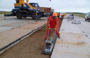 Строительство дорог из дорожных бетонных плит